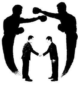 contact met boksen als metafoor